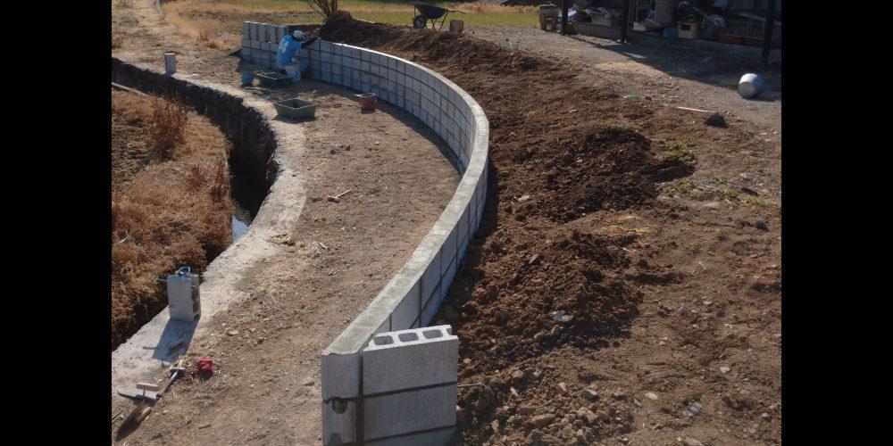 新土を埋めて完成